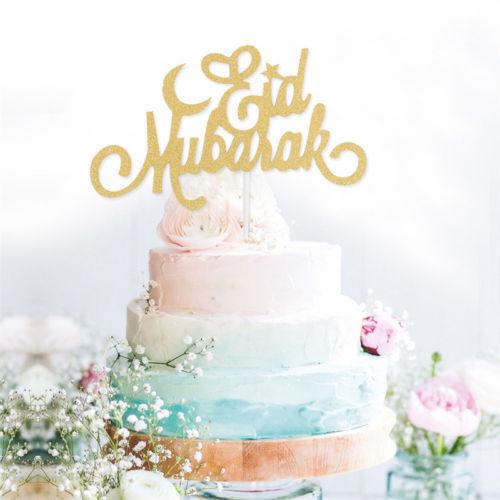 Eid  Ramadan Wedding Cake Topper Muslim Islam Glitter Hajj Decor