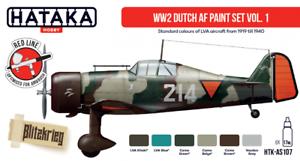 Hataka Hobby Paints WORLD WAR II DUTCH AIR FORCE Acrylic Paint Set Part 1