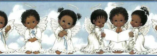 Chesapeake Baby Angels Blue Wallpaper Border Ff03271b For Sale Online Ebay
