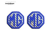 MG ZR ZS MGF MK1 LE500 Compatible Front Rear Logo Insert Badge 59mm Blue Carbon