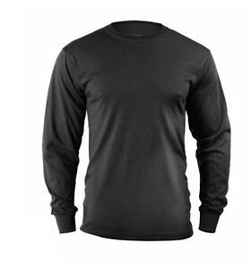 Black-LONG-SLEEVE-T-Shirt-US-Marine-Corps-Army-Navy-USMC-Security-Work-Out-S-2X