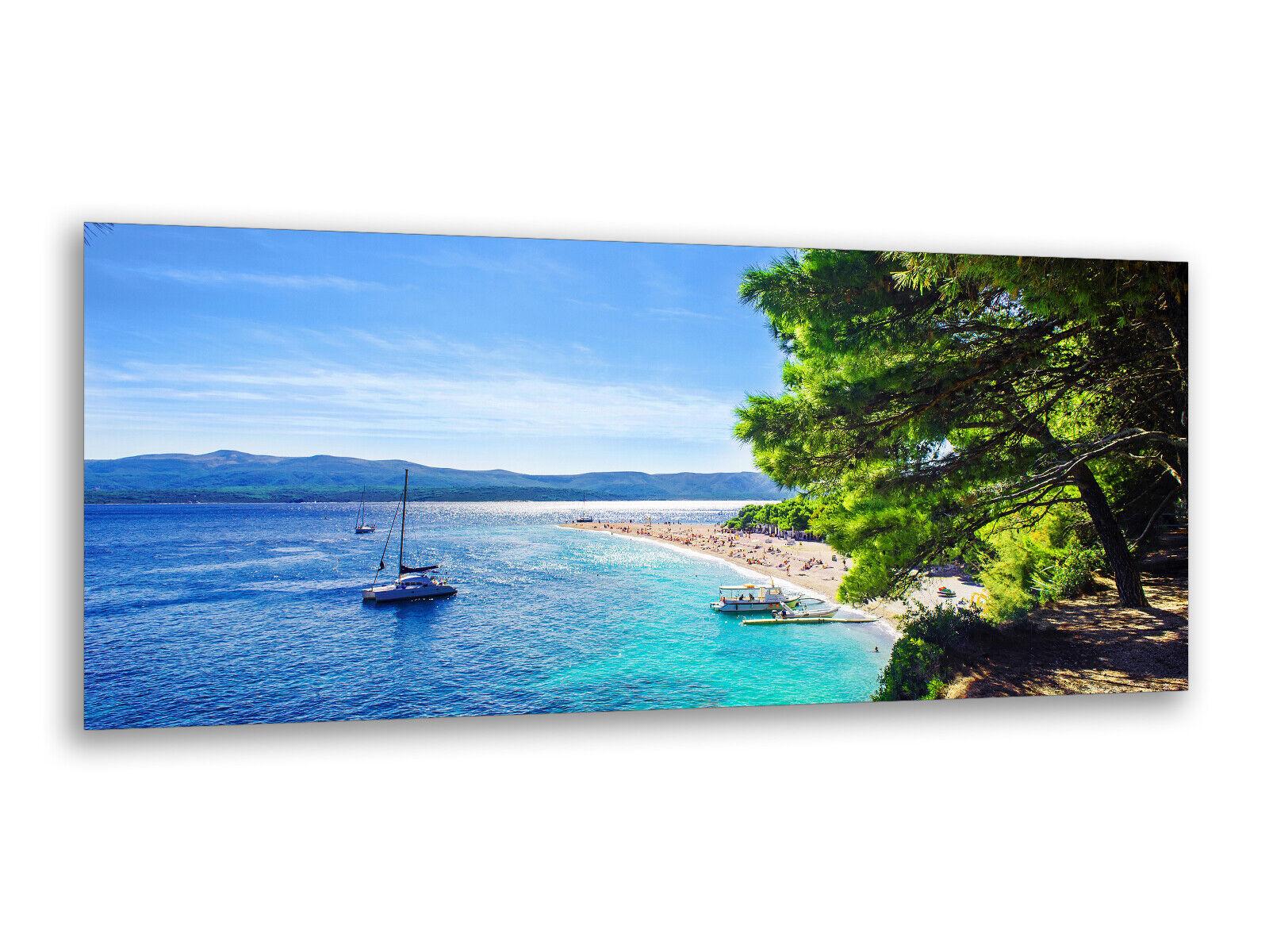 Immagini di vetro immagini parete 125 x 50cm Croazia costa ag312502873