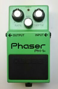 BOSS-PH-1R-Phaser-Vintage-Guitar-Effects-Pedal-made-in-Japan-1982-89-with-Box