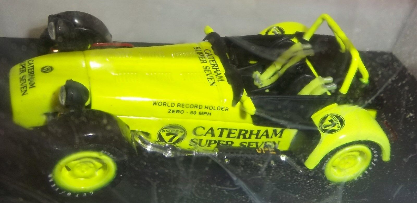 CATERHAM lotus 7 SEVEN JPE 1 43 Eléctrico giallo Pintura récord Maker Super 7 Lotus