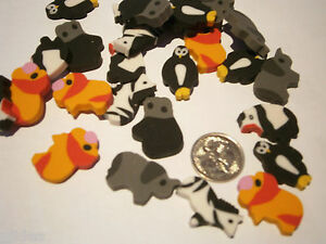 100-x-Asst-Zoo-Animals-Mini-Erasers-Eraser-Rubbers-Great-for-Party-Loot-Bags