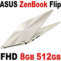 512gb Ssd Asus Zenbook Flip 13.3 Full Hd Touch 2.2ghz 8gb Laptop Gold Ux360 Bt