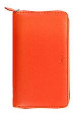Filofax Compact Zipped Personal Organiser Diary - Saffiano Bright Orange 022591
