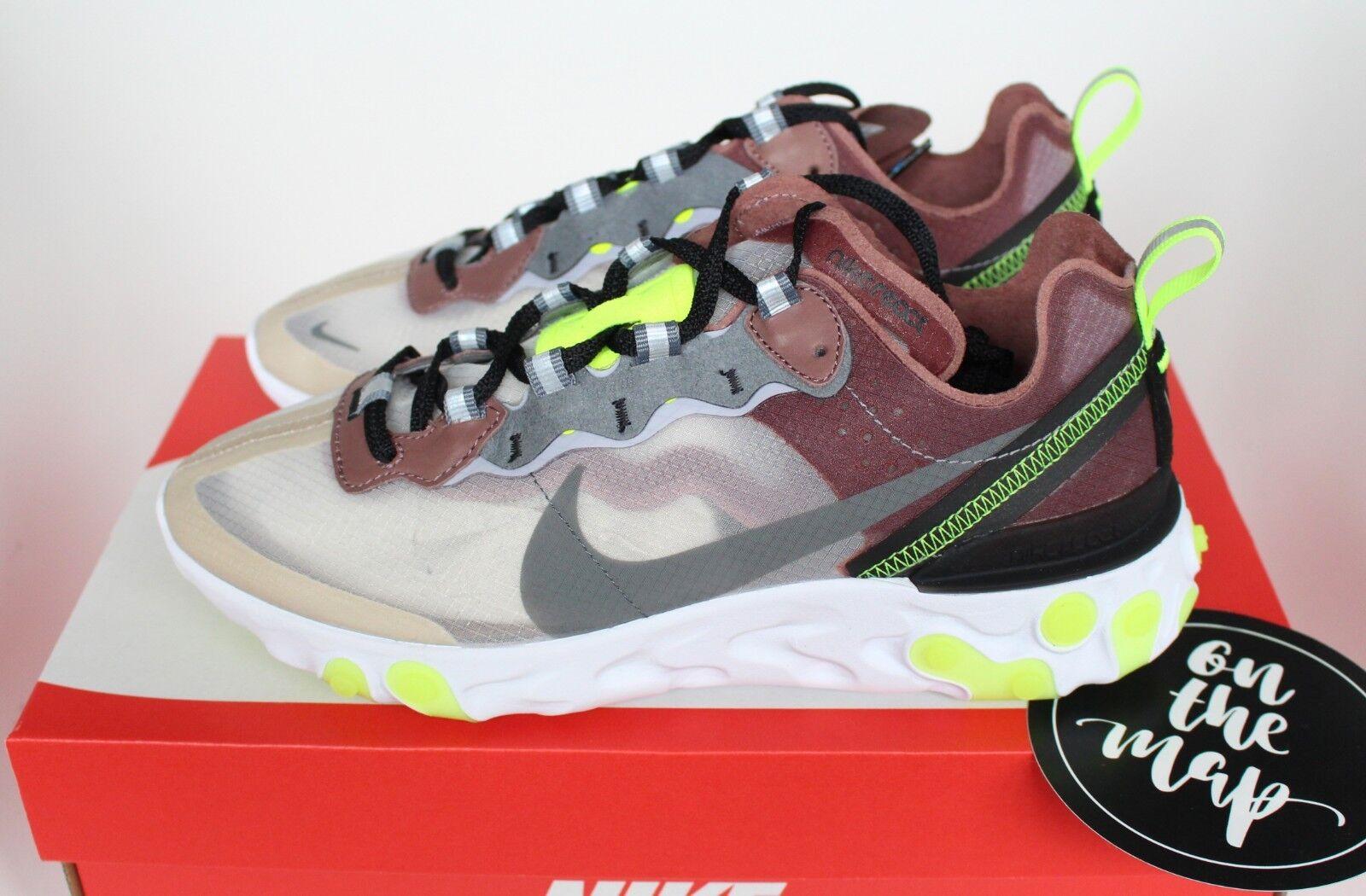 Nike React Element 87 Desert Sand Beige Green5 6 7 8 9 10 11 US New