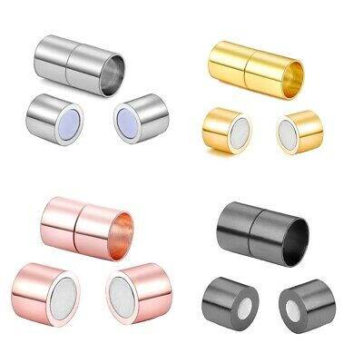 Silver 2 3 4 5 6 7 8Row Strong Magnet Bracelet Clasps Jewelry Findings 10Pcs