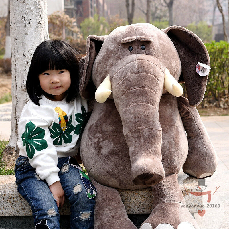 Giant 40'' Elephant Plush Soft Toy Doll Stuffed Animal Birthday Party Gift Nuovoly