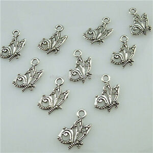 13547 100pcs Antique Silver Tone Alloy Mini Butterfly Insect Pendant Charms Ebay