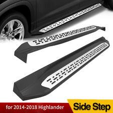 For 2014 2019 Toyota Highlander Aluminum Running Board Side Step Nerf Bar Pair