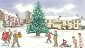 Pembrey Christmas Tree in the snow - Christmas Card - Tony Paultyn