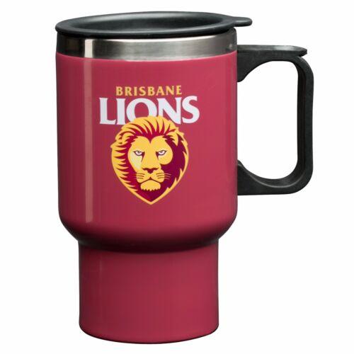 St Kilda Saints AFL Steel Thermal Insulated Travel Coffee Mug Cup Handle Gift