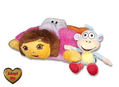 Pillow Pets Pee,Wees Dora The Explorer \u0026 Ty Beanie Boots Monkey Stuffed  Animal