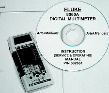 Fluke 8060a Dmm Operating Amp Service Manual With Schematics