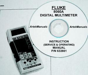 fluke 8060a dmm operating service manual with schematics ebay rh ebay com Fluke 77 BN Owner's Manual Fluke 179 User Manual