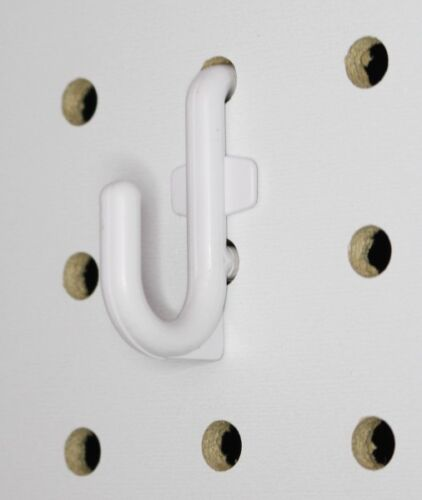 Plastic White Board Hook Kit Tool 50 pack J Hook wallPeg PEGBOARD NOT INCLUDED