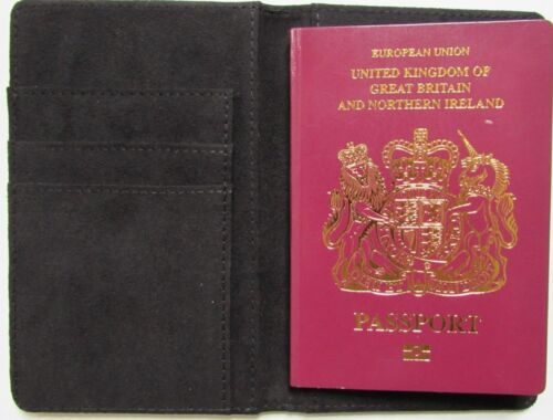 Personnalisée Emoticone DJ Platine Imprimé Cuir PU UK Passeport Housse//Support