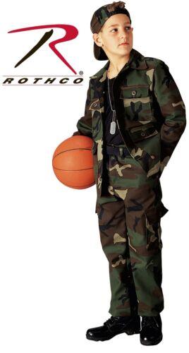 Army Kid/'s BDU Camouflage Pants /& Shirts Woodland Camo 66102-66103 Rothco