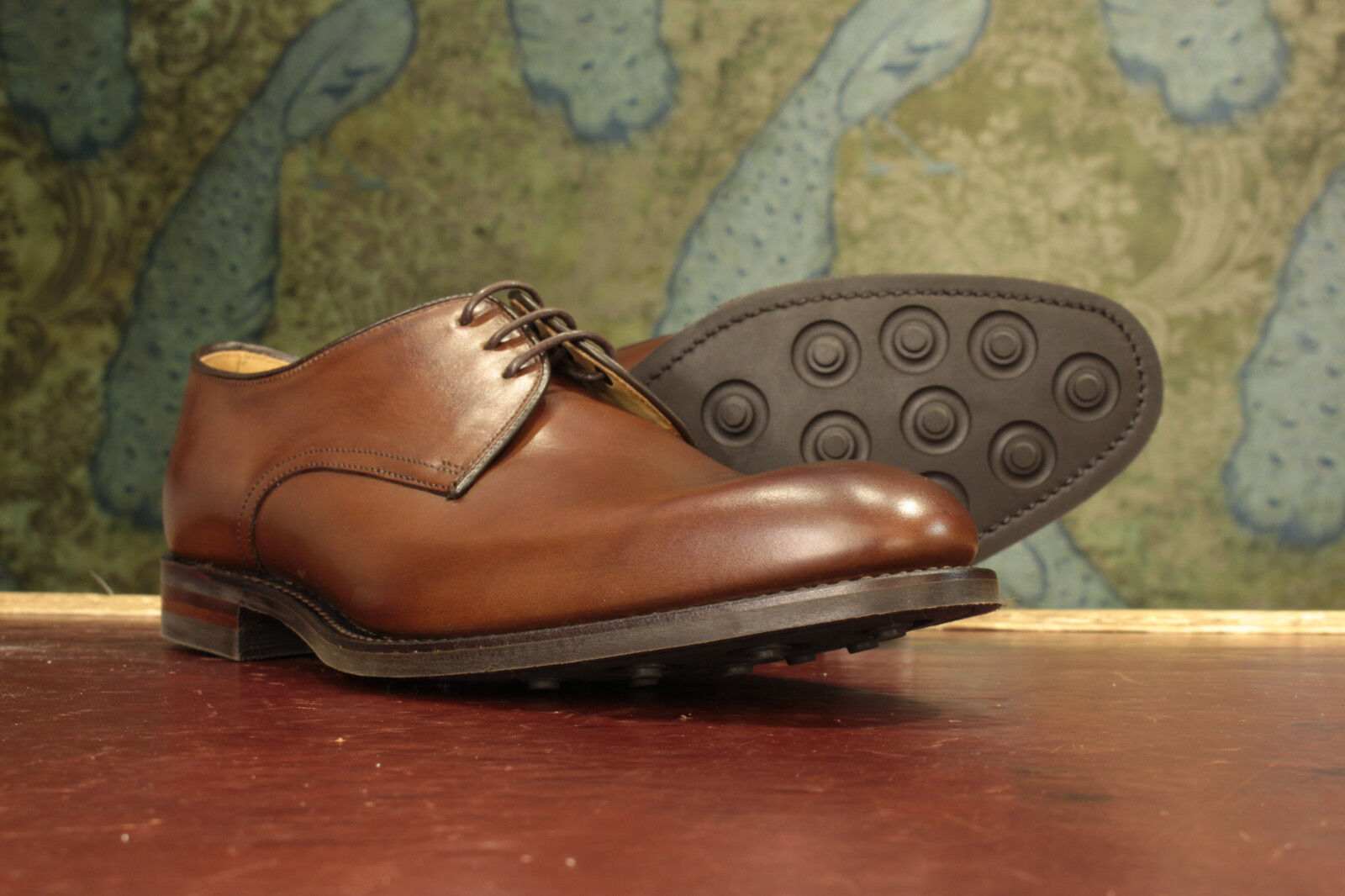 Loake Gable Brown Derby Shoes 10½G - New Seconds RRP £200 (16637)