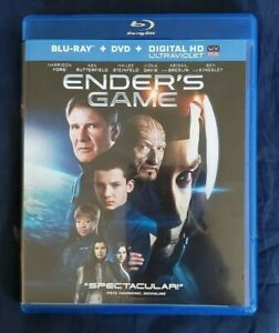 Enders Game (Blu-ray/DVD, 2014, 2-Disc Set) No Scratches ...