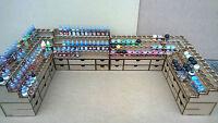 Desk Setup Paint Stand 52 Bottle 40 Pot Rack Storage Warpaint Vallejo Warhammer