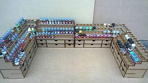 Soporte-de-pintura-de-configuracion-de-Escritorio-52-Frasco-40-Pot-Rack-de-almacenamiento-Warpaint