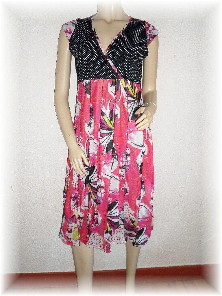Schöne d Kleid Fantasie Rosa schwarz weiße Punkte Lewinger Größe- 2 38 40