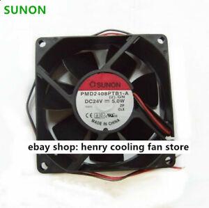 Original-SUNON-PMD2408PTB1-A-Fan-DC-24V-5W-80-80-25mm-Inverter-cooling-fan