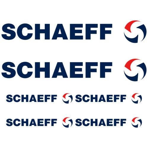 SCHAEFF XL autocollant sticker pelle 6 Pièces