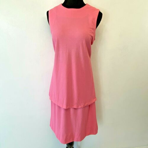 Vintage Sleeveless Top and Skirt Set size M Pink T