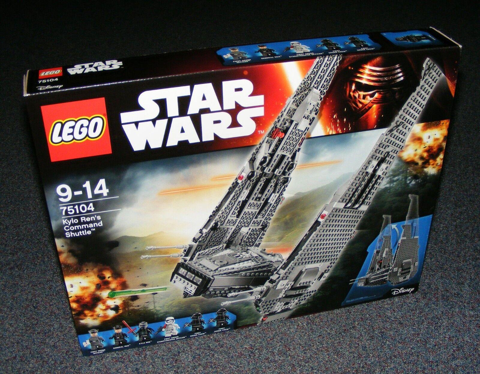 Estrella guerras LEGO  75104 kylo REN'S COuomoDO Shuttle Nuovo Con Scatola Nuovo Di Zecca Sigillato  lo stile classico
