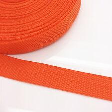 New 5 yards  Length 3/4 Inch Width(20mm) Nylon Webbing Strapping Orange