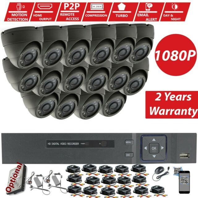 CCTV 16CH 8CH DVR Record HD 2 4MP 1080P Outdoor Home Security Cameras  System Kit
