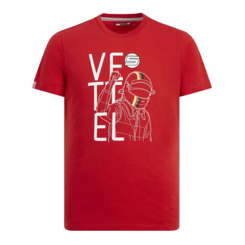 2019 Scuderia Ferrari F1 Sebastian Vettel Mens T-Shirt Tee Drivers Sizes XS-XXL