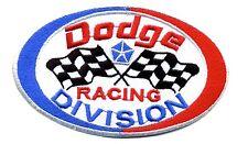 Hot Rod Patch Dodge Racing Division badge Drag Race Hemi Mopar Checkered Flags