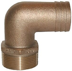 "90 deg groco Pthc-1125 Hose 1-1//8/"" 1-1//4/"" NPT 2.37/"" New Pipe-to-hose Adapters"