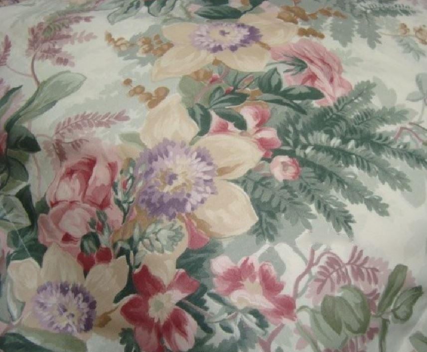 2 king Pillowcases Set two mw new Ralph Lauren Winter Garden Floral fabric green