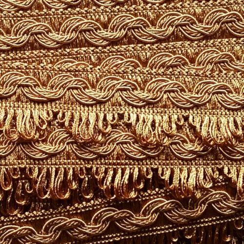 1,18 €//m punta adhesives A partir de 5,0 M de lujo posamentenborte 35mm Gold-bronce beige