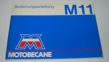 Betriebsanleitung Motobecane M 11 Mofa ohne Einträge blanko Stand März 1983!