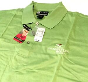MEN'S JOSEPH A BANK XL GREEN POLO GOLF SHIRT ~ David Leadbetter Collection X-Lg