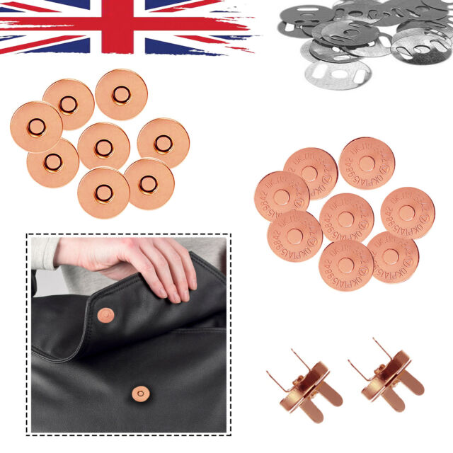 Great for Purses,Bag,Sewing Craft DIY 20 Sets Magnetic Button Clasp Snaps 14mm