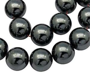 Hematite-Non-Magnetic-Round-Beads-8mm-53-Pcs-Gemstones-DIY-Jewellery-Making