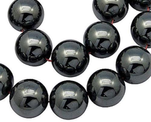 Hematite Non Magnetic Round Beads 8mm 53 Pcs Gemstones DIY Jewellery Making