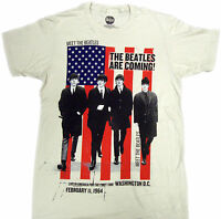 Official The Beatles - The Beatles Are Coming Adult T-shirt -rock Band Music Tee