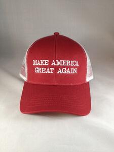 b6edd4bc41a Make America Great Again Donald Trump New Hat Red white mesh snap ...