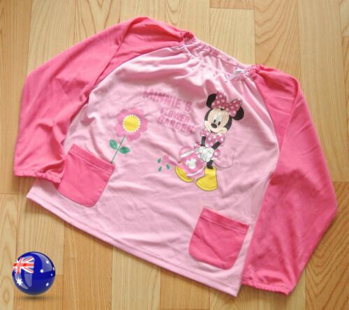 Baby Kid Girl Cute Pink Minnie Mouse Feeding Bib Apron Art Paint Smock shirts