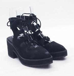 Asos Womens UK Size 6 Black Suede Heels