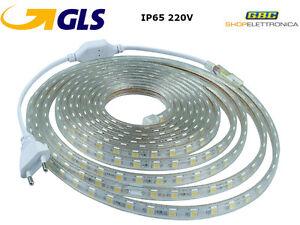 STRISCIA-STRIP-LED-BOBINA-SMD-5050-IP65-SPINA-220V-BIANCA-TUBO-ESTERNO-1-A-100-M